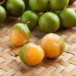 Fresh peeled quenepa fruit