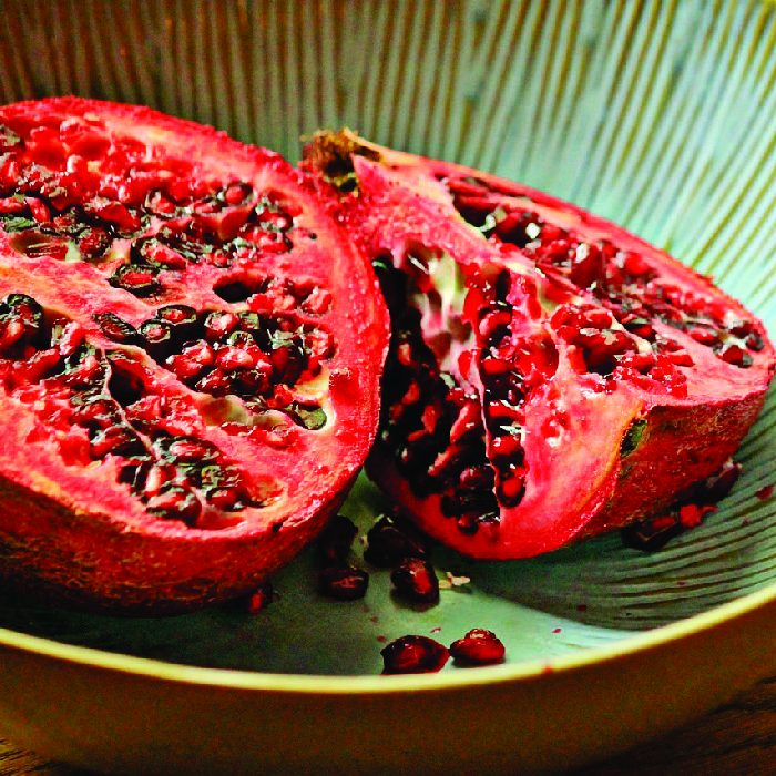 pomegranate-tropical fruit, The pomegranate is well-known for its zesty, sweet, tropical taste. The fruit-bearing shrub grows to a height of 5 to 10 meters. If you live in the Northern Hemisphere, you would be able to enjoy this fruit in the fall season, from September to February. On the other hand, if you live in the Southern regions of the world, pomegranate will be available for you in the spring season.